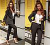 Классический женский костюм пиджак с накладными карманами и брюки / 3 цвета 403-411, фото 3