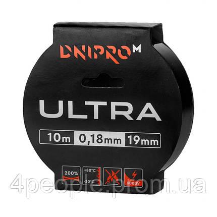 Изоляционная лента Dnipro-M Ultra 10 м 19 мм 0,18 мм черный 6000 В, фото 2