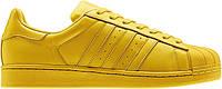 Мужские кроссовки Adidas Superstar  Pharell Williams в желтом цвете, фото 1