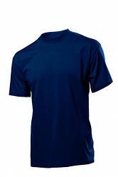 Спецодяг футболка робоча круглий виріз (100% бавовна, темно-синій)