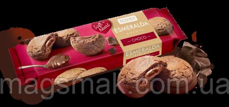 Сахарное печенье Печенье Эсмеральда Soft Heart Choco, 170 г