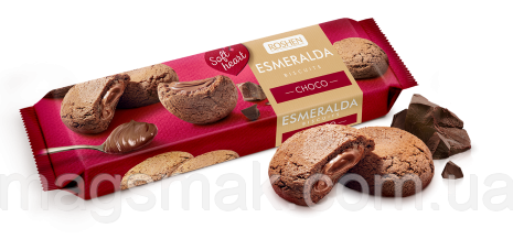 Сахарное печенье Печенье Эсмеральда Soft Heart Choco, 170 г, фото 2