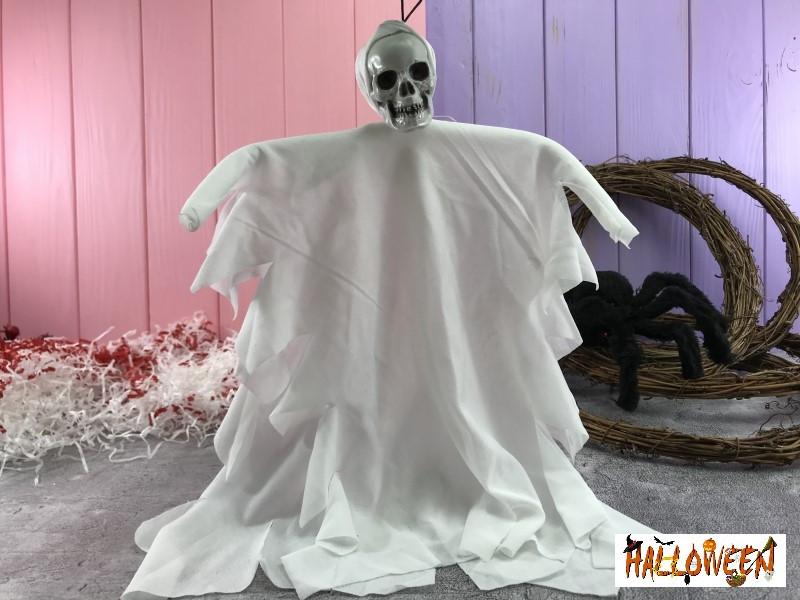 """Декор """"Подвесной скелет маленький белый"""""""