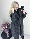 Куртка удлиненная Пальто на меху, фото 4