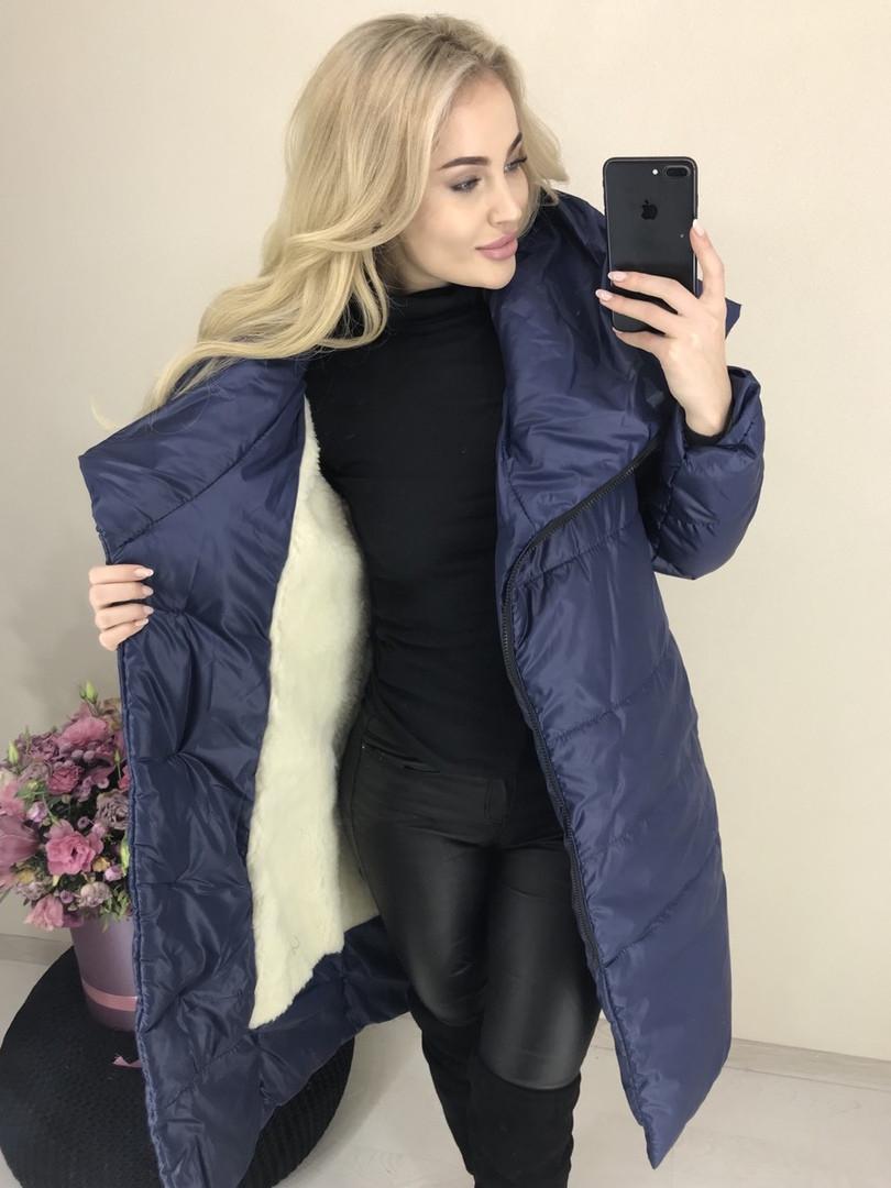 Куртка удлиненная Пальто на меху