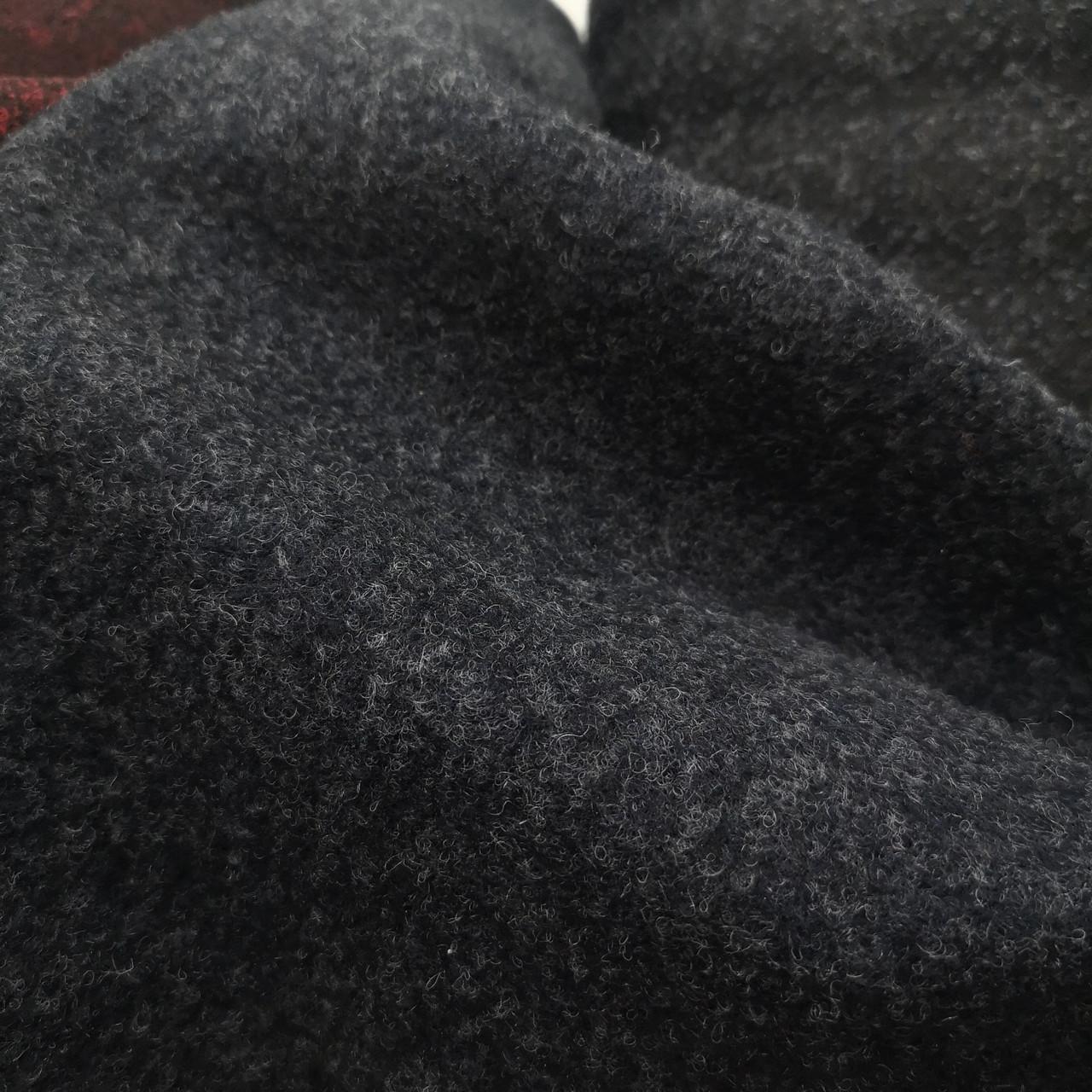 Пальтовая ткань шерсть темно-синяя