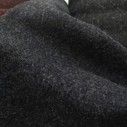 Пальтовая ткань шерсть темно-синяя, фото 2
