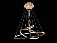 Светодиодная подвесная люстра с регулируемой высотой  хром 9079-60*40*20