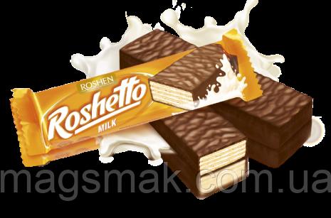 Вафельные батончики Roshetto milk chocolate 32г, фото 2