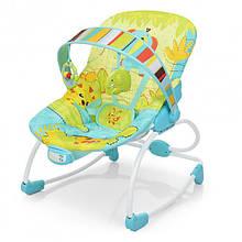 Дитячий шезлонг-качалка 6904, з 2-ма положеннями спинки, дугою з іграшками, вібрацією, звуком, з народження