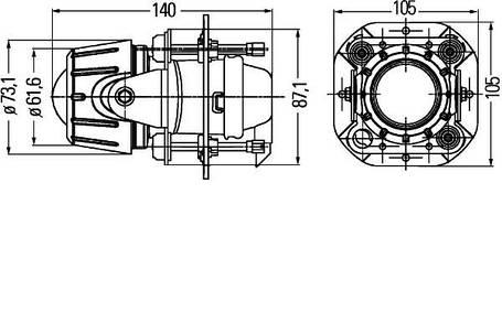 Противотуманная фара Hella Micro DE Premium 1NL 008 090-317 , фото 2