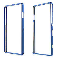 Чехол бампер металл Hippocampal Buckle для Sony Xperia C4 Dual D5333 синий