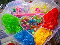 Распродажа!!! Набор резинок rainbow loom 4500 шт  сердечко