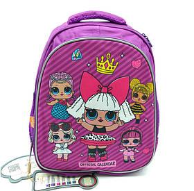 Рюкзак шкільний Miqini 36.5x25x14 см 11.5 л Фіолетовий (r9132/1)