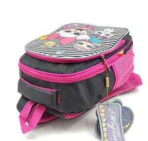 Рюкзак школьный Miqini 36.5x25x14 см 11.5л Черный (r9132/2), фото 2