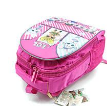 Рюкзак школьный Miqini 36.5x25x14 см 11.5л Розовый (r6832/1), фото 3