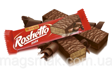 Вафельні батончики Roshetto dark chocolate 32г, фото 2
