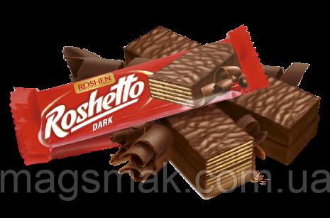 Вафельные батончики Roshetto dark chocolate 32г, фото 2