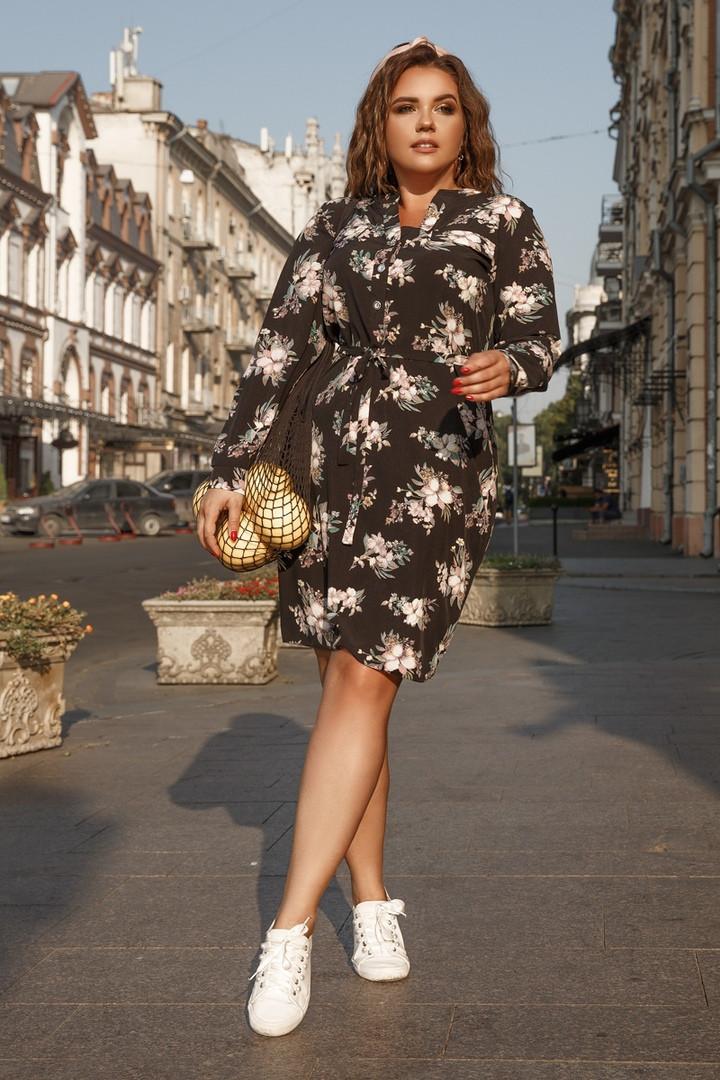 Платье Lilove 1002 48-50 черный
