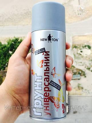 Грунт универсальный антикоррозийный  Серый 400 мл New Ton, фото 2