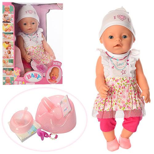 Пупс Дитина в сукні і шапочці з аксесуарами