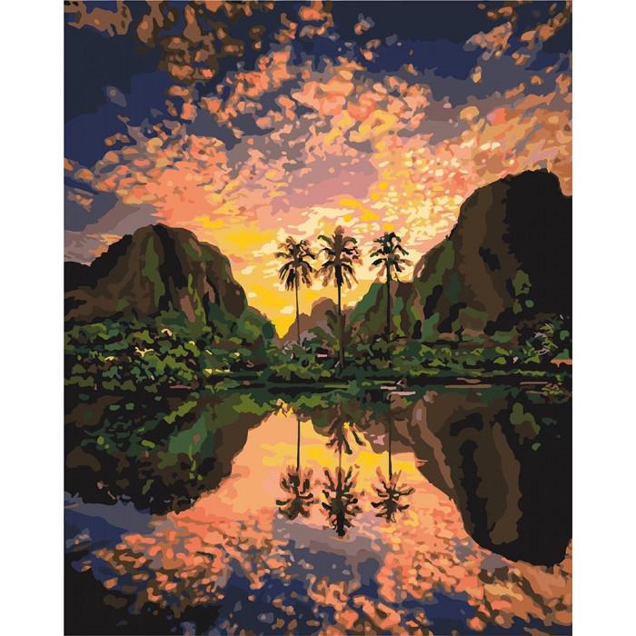 Картина по номерам Роспись Багровая лагуна КНО2737