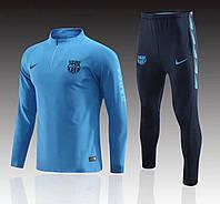 Тренировочный костюм FC Barcelona синий 2019-2020, фото 1