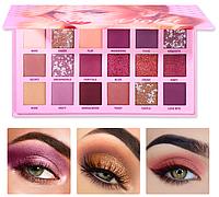 UCANBE pink violet палетка теней матовых и шимерных