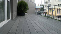 #ТераснаДошка сірого кольору використана як фінішне покриття #тераси.