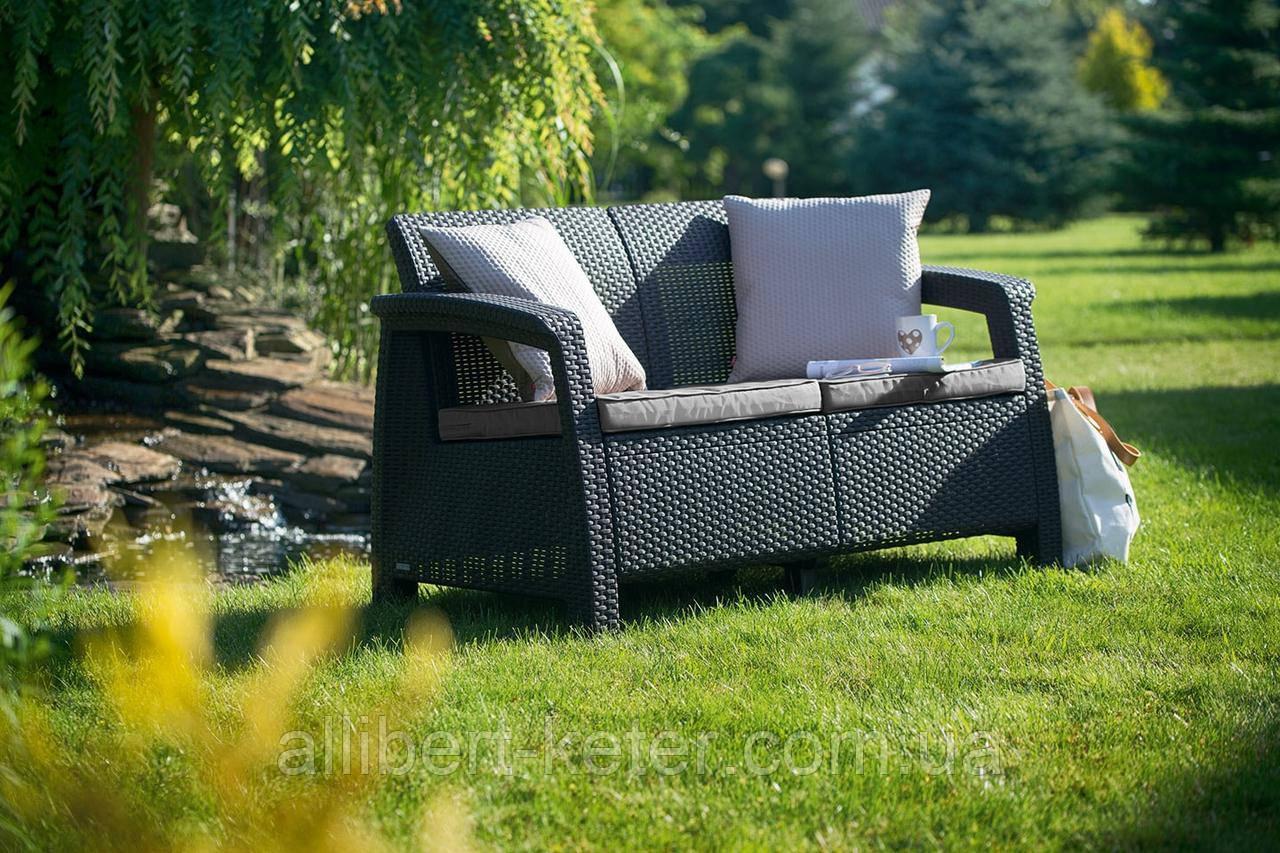 Набор садовой мебели Corfu Love Seat из искусственного ротанга