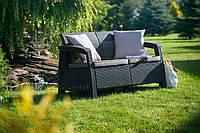 Набор садовой мебели Corfu Love Seat из искусственного ротанга, фото 1