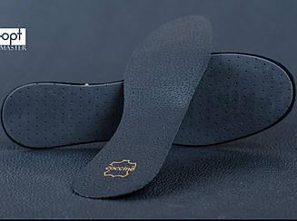 Стелька кожаная Elegance Leather on Latex Coccine, цв. чёрный