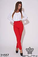 Брюки женские красные (размеры S M L XL)