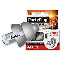 Беруши для концертов, клубов Alpine PartyPlug Серые + универсальные