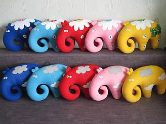 Мягкая игрушка-подушка слон Позитив ручная работа