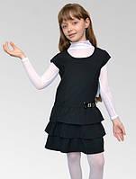 Сарафан с оборками детский для девочек школьного возраста, размеры 28, 30, 32, 34. (С-12)