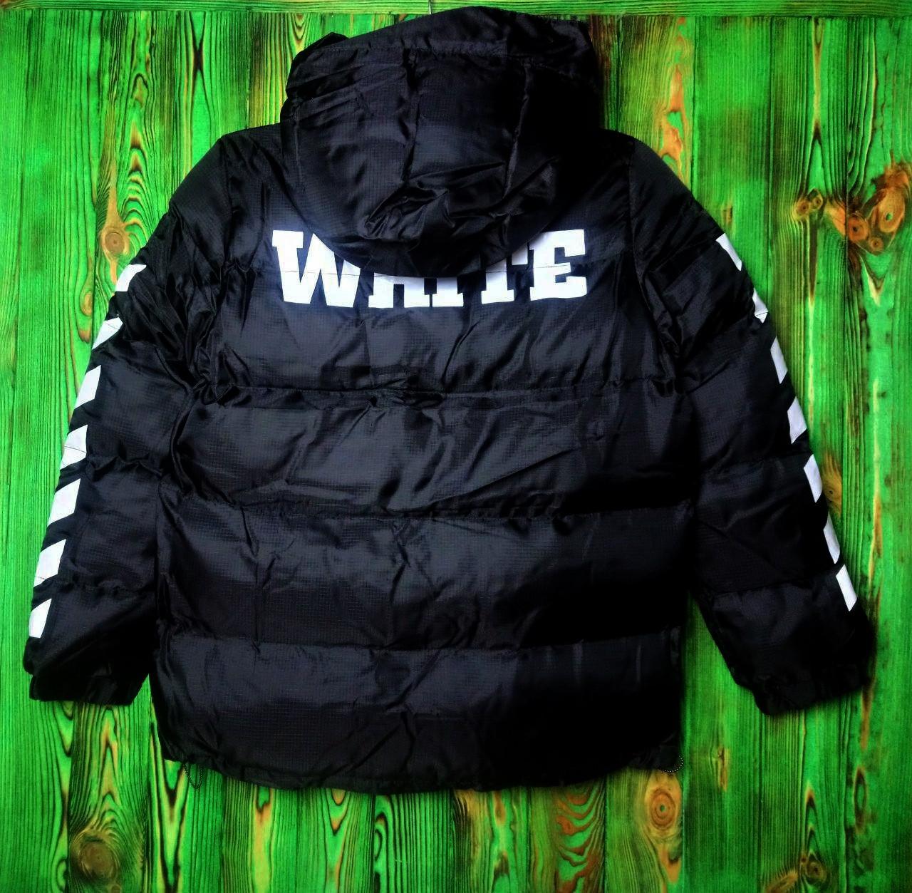 Мужская зимняя куртка - в стиле OFF-White черный