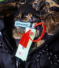 Мужская зимняя куртка - в стиле OFF-White черный, фото 2
