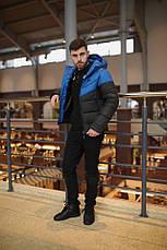 Мужская зимняя куртка - Two in One синий-черный, фото 3