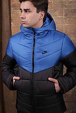 Мужская зимняя куртка - Two in One синий-черный, фото 2
