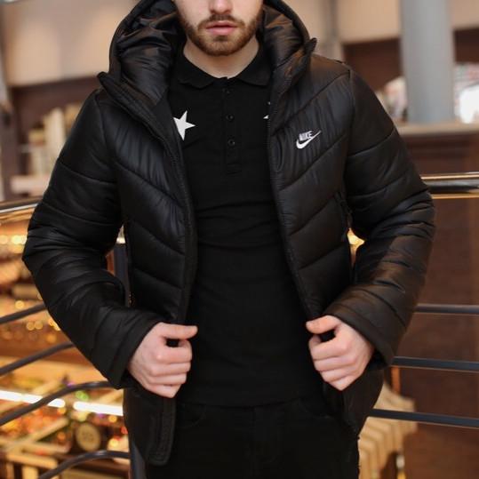 Мужская зимняя куртка - Two in One черный