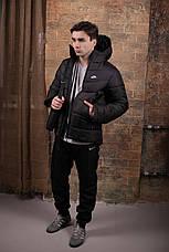 Мужская зимняя куртка - Two in One черный, фото 3