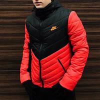 Мужская зимняя куртка - Transformer оранжевый-черный