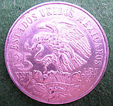 Мексика 25 песо 1968 года, серебро 22.5 грамма Олимпийские игры, фото 2