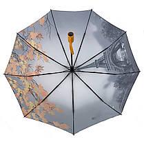 Женский автоматический зонт Flagman с эйфеливой башней в подарочной упаковке (745-4), фото 3