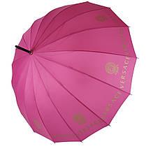 Зонтик-трость полуавтомат Max NEW LOOK на 16 карбоновых спиц Розовый (1001-1), фото 2