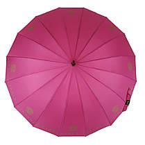 Зонтик-трость полуавтомат Max NEW LOOK на 16 карбоновых спиц Розовый (1001-1), фото 3