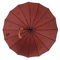 Зонтик-трость полуавтомат Max NEW LOOK Бордовый (1001-4), фото 3