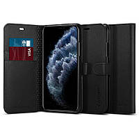 Книжка-Чехол Spigen для iPhone 11 Pro Max Wallet S, Black (075CS27149), фото 1