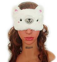 Детская маска для сна Silenta Мишка (розовые щечки), фото 1